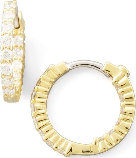 Roberto Coin 16mm Yellow Gold Diamond Huggie Hoop Earrings, .76ct