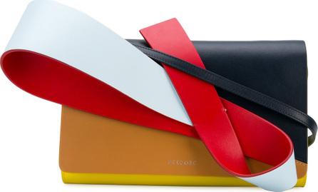 DELPOZO 3D colour block clutch