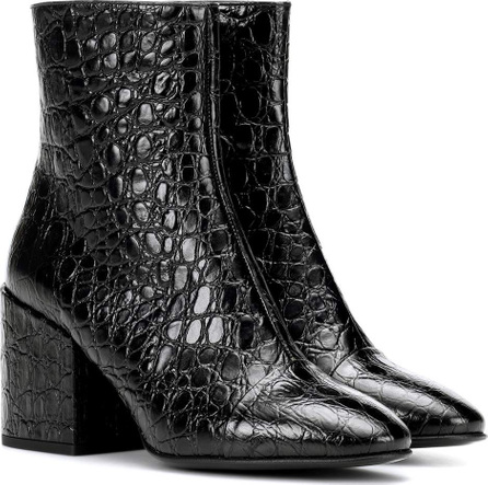 Dries Van Noten Croc-embossed leather ankle boots