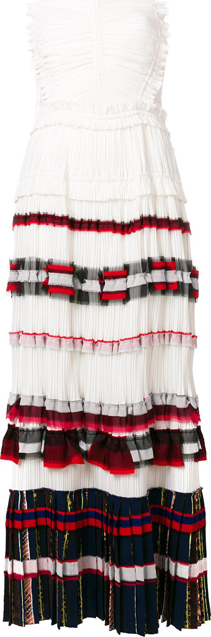 3.1 Phillip Lim Striped pleated maxi dress