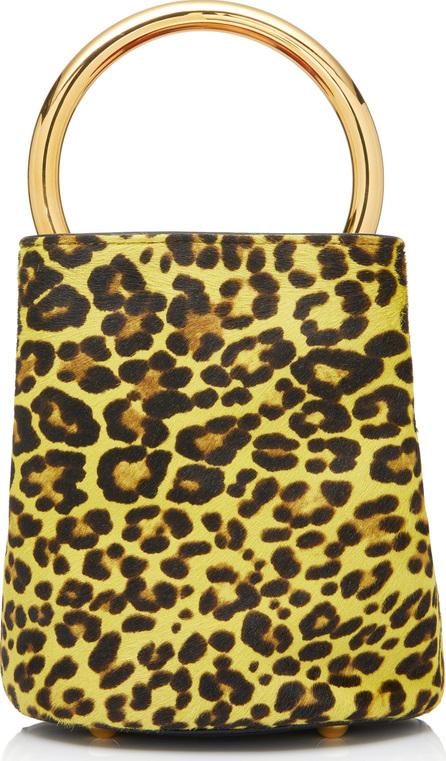 Marni Pannier Leopard Print Calf Hair Bag
