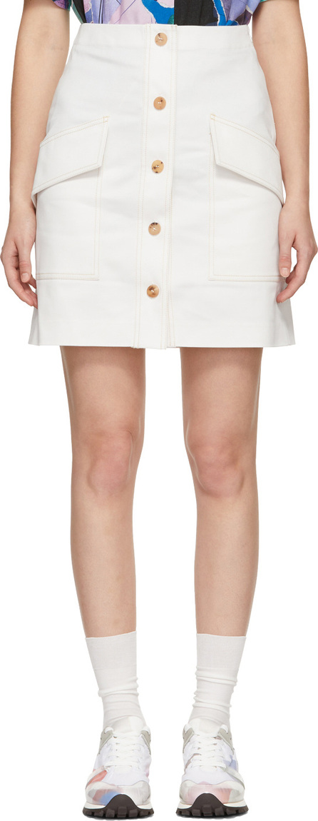 Acne Studios White Sirenk LT C Skirt