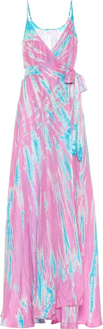 Anna Kosturova Exclusive to Mytheresa – tie-dye silk maxi dress