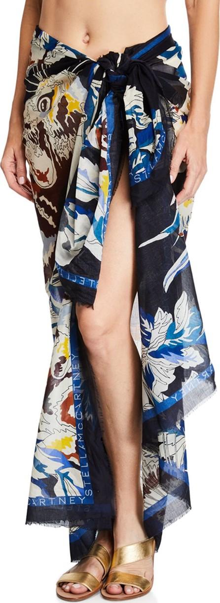 Stella McCartney Jungle Print Cotton-Silk Sarong Coverup