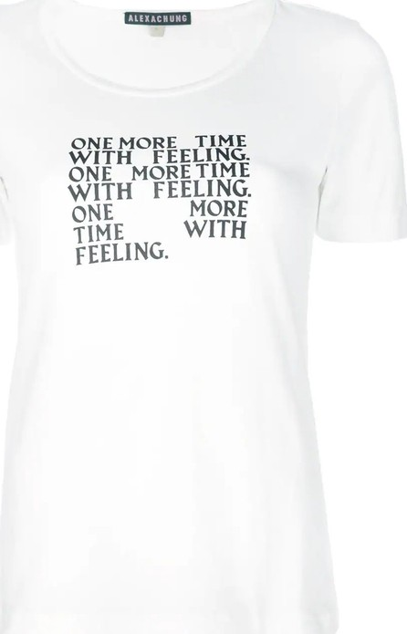 Alexachung slogan print T-shirt