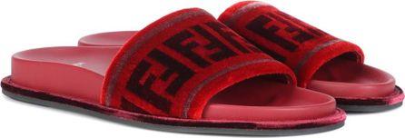 Fendi Velvet slides