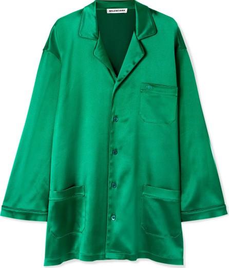 Balenciaga Oversized satin shirt