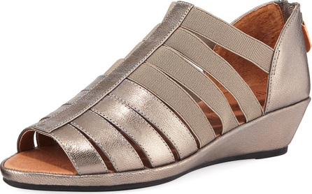 Gentle Souls Lana Caged Metallic Leather Sandals