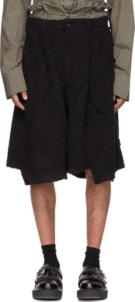 Comme Des Garçons Homme Plus Black Boa Shorts