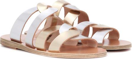 Ancient Greek Sandals Enosi metallic leather sandals