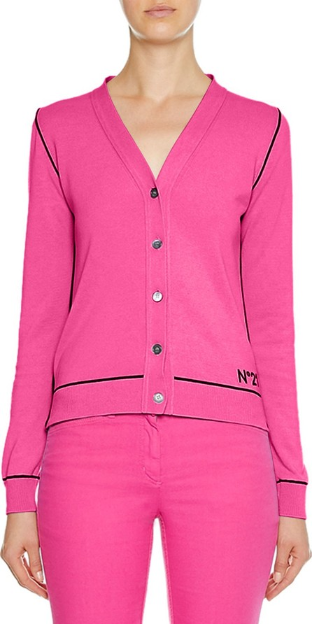 Nº21 V-Neck Button-Front Cotton Cardigan