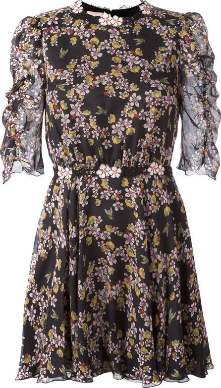 GIAMBA floral bee print mini dress