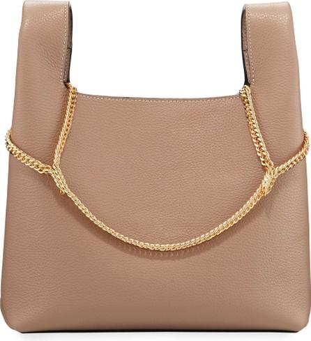 Hayward Pebbled Leather Chain Bag  Beige