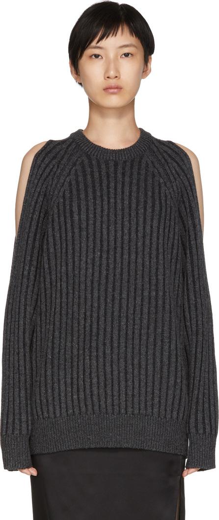 McQ - Alexander McQueen Grey Cut-Out Sweater