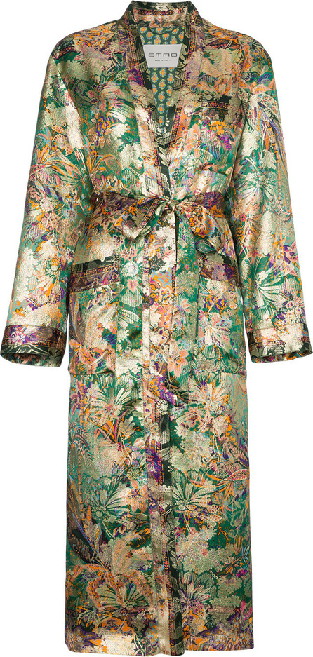 Etro Silk Jacquard Duster Coat