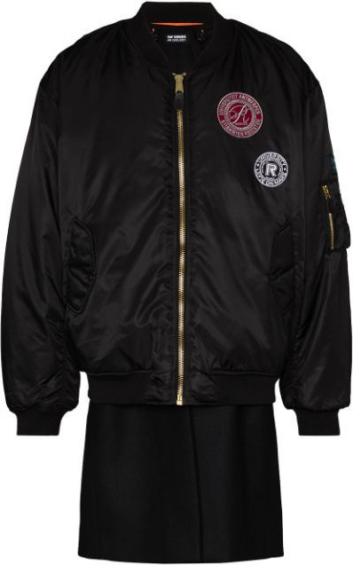 Raf Simons Patch-detail layered bomber jacket
