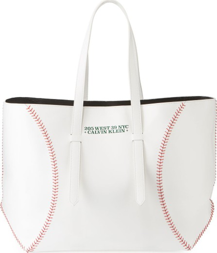 Calvin Klein 205W39NYC The Catch Baseball Calf Leather Tote Bag