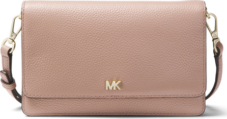 MICHAEL MICHAEL KORS Leather Crossbody Phone Case Wallet