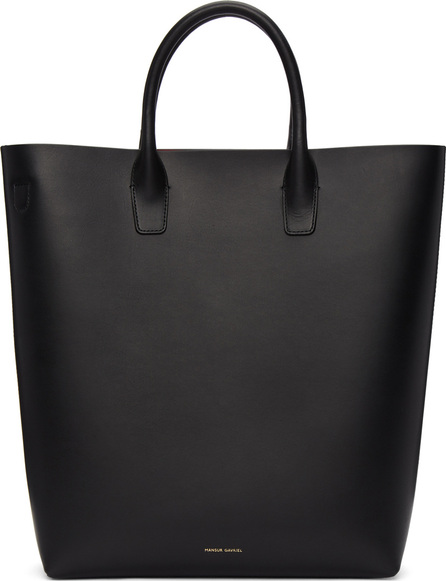 Mansur Gavriel Black Leather North South Tote Bag