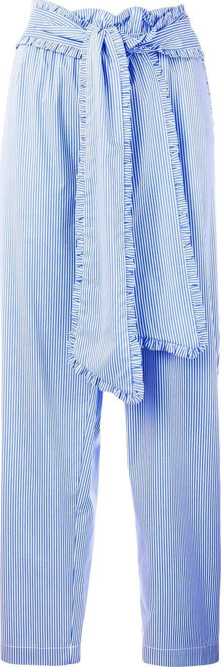 MSGM Striped tie waist trousers
