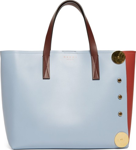 Marni Punch contrast-panel leather tote