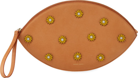 Mansur Gavriel Floral-Embellished Oval Clutch Bag