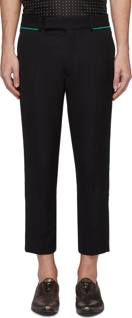 Haider Ackermann Contrast piping tapered virgin wool pants