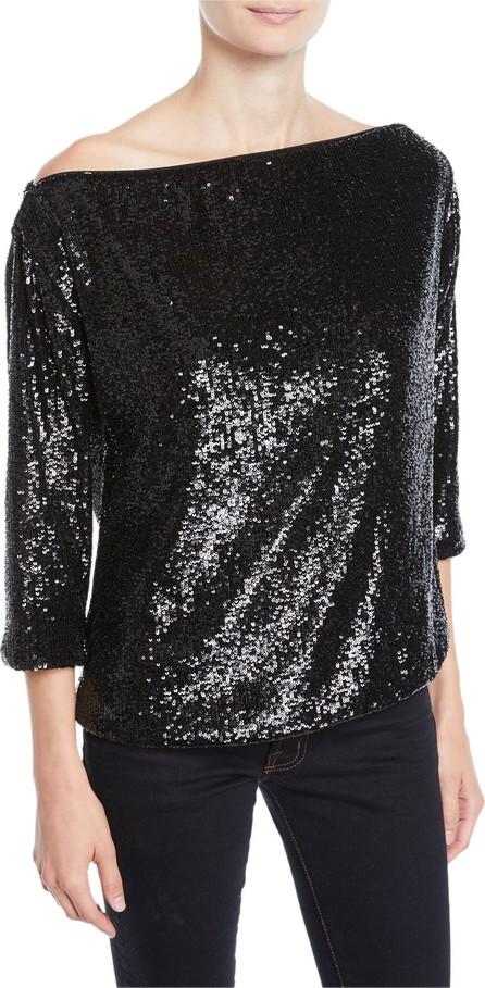A.L.C. Zoey Off-Shoulder Sequin 3/4-Sleeve Top