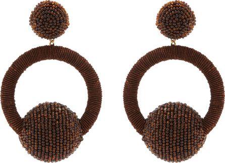 Rebecca de Ravenel Cindy hoop-drop clip-on earrings