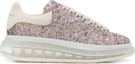 Alexander McQueen Oversized glitter low-top sneakers