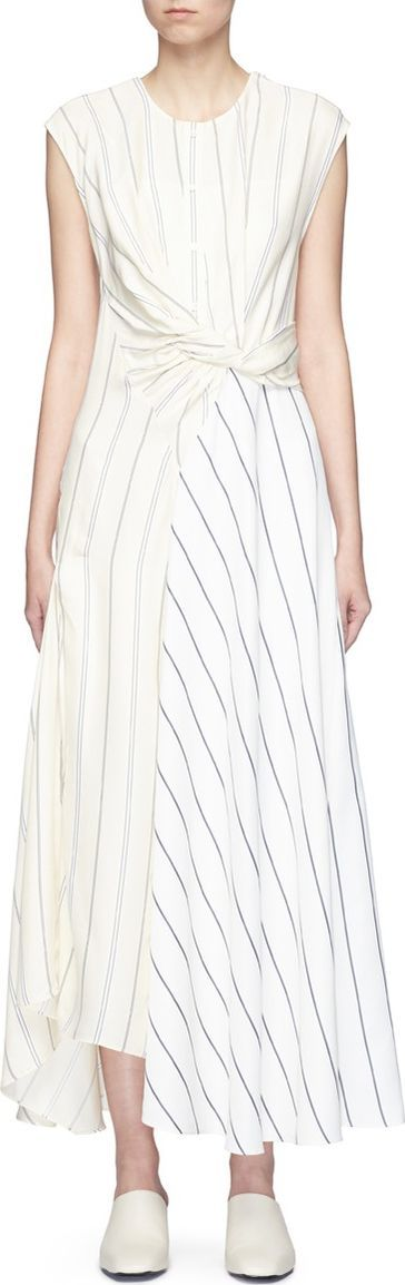3.1 Phillip Lim Twist stripe patchwork maxi dress