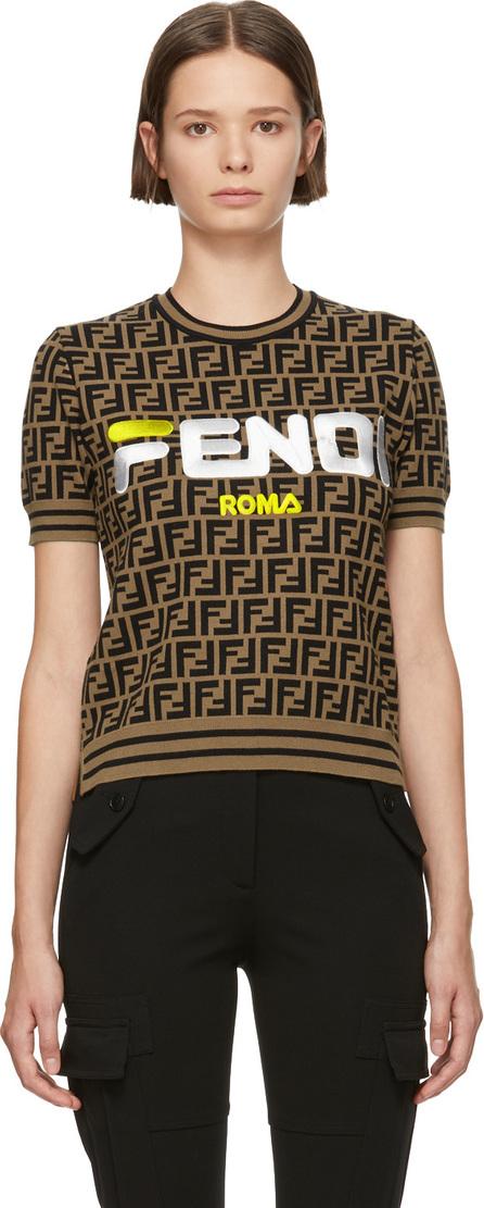 Fendi Brown 'Forever Fendi' Crewneck Sweater