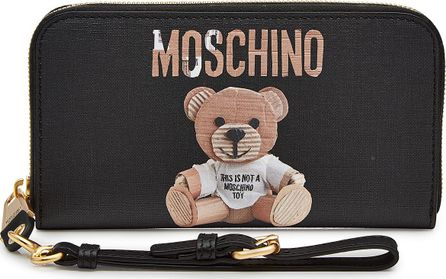 Moschino Printed Wallet with Leather