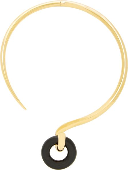 Charlotte Chesnais Swing Wood and Gold-Dipped Necklace