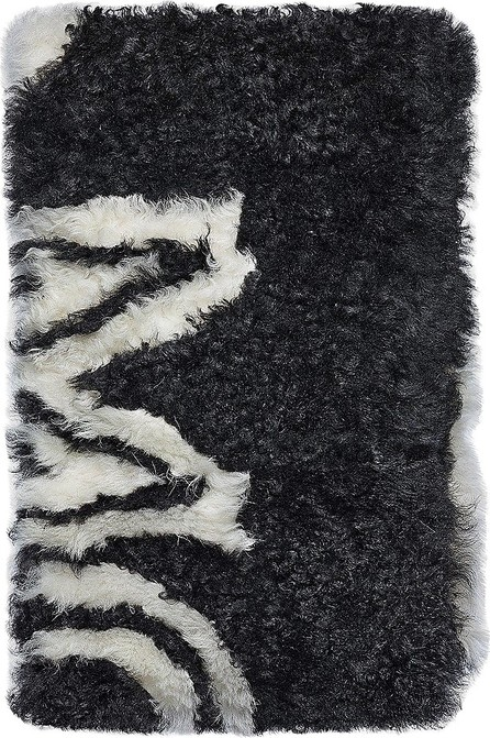 MCM Milano Black&White Shearling Stole