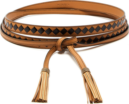 Bottega Veneta Leather and watersnake belt