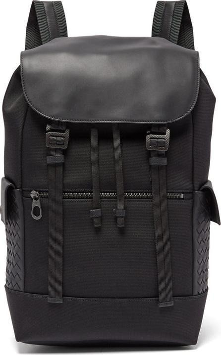 Bottega Veneta Intrecciato leather-trimmed backpack