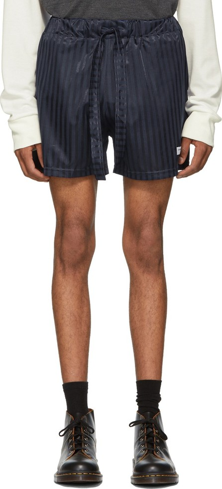 Daniel W. Fletcher SSENSE Exclusive Navy Shadow Stripe Shorts