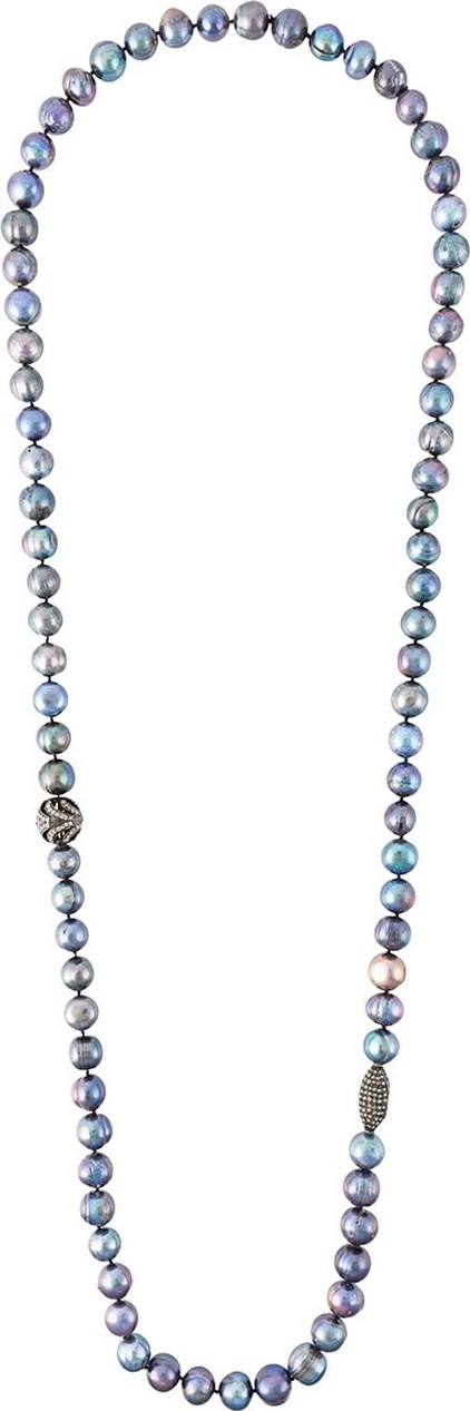 Gemco pearl diamond ball lariat necklace