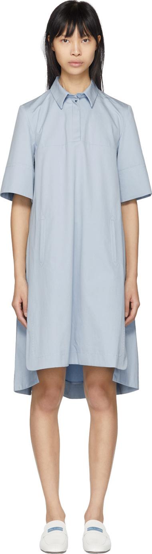 Carven Blue Poplin Short Dress