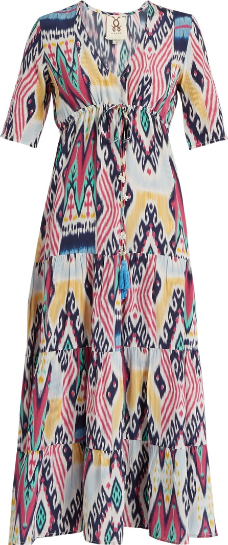 FIGUE Kalila ikat-print silk midi dress