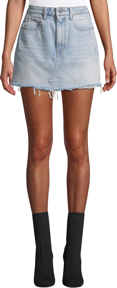 T By Alexander Wang Bite High-Rise Frayed Denim Mini Skirt