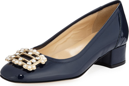 Sesto Meucci Heda Pearly Embellished Pump, Navy