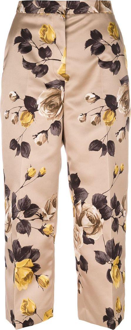 ROCHAS floral print cropped pants
