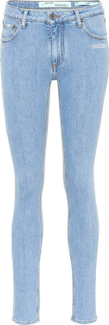 Off White Mid-rise skinny jeans