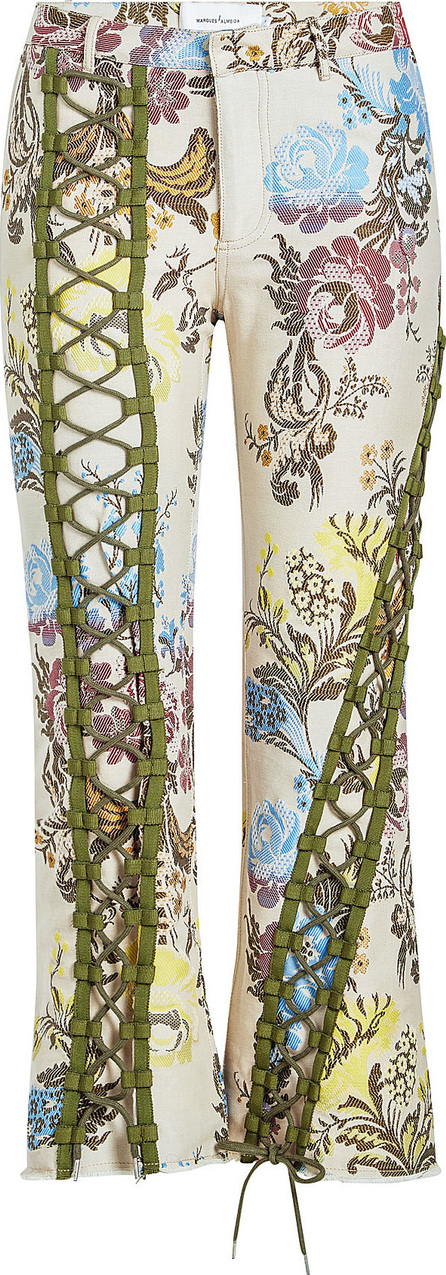 Marques'Almeida Printed Pants with Lace-Up Front