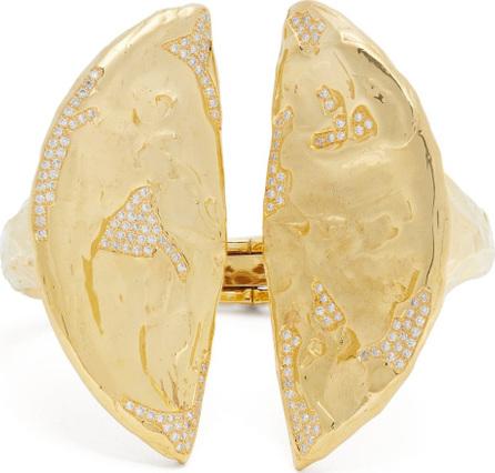 Patcharavipa 18kt gold and diamond split cuff