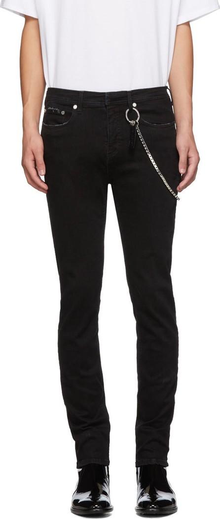 Neil Barrett Black Chain Jeans