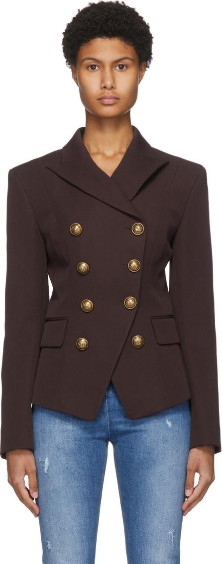 Balmain Brown Grain De Poudre 8-Button Jacket