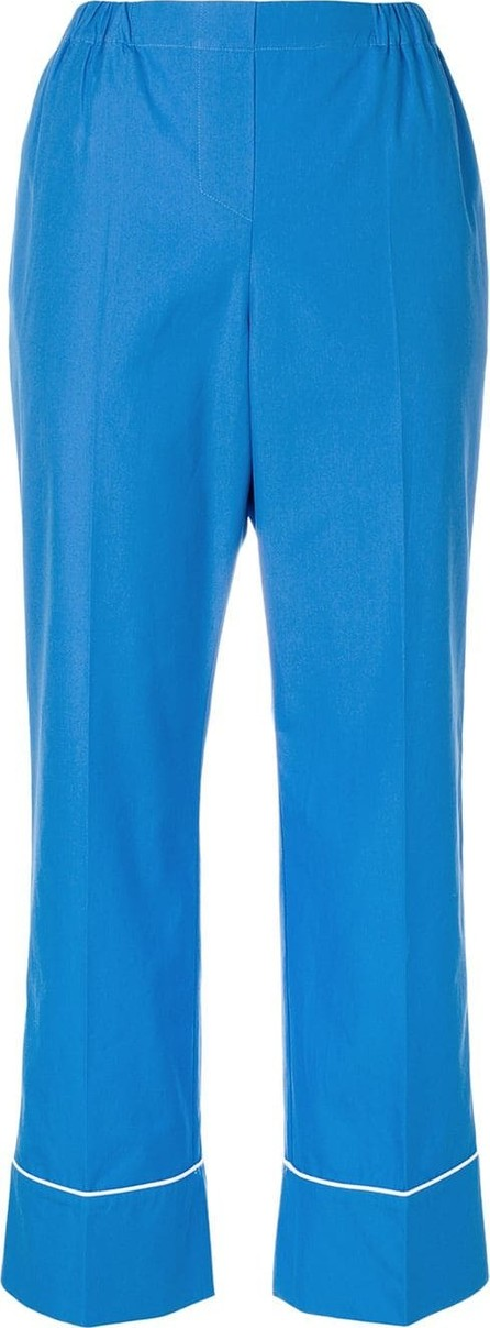Nº21 Cropped pyjama-style trousers